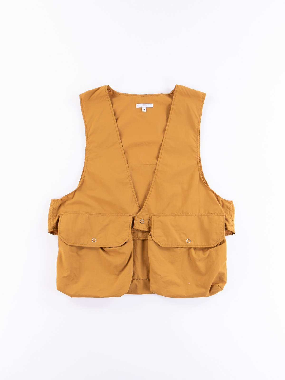 Mustard Acrylic Coated Nylon Taffetta Fowl Vest - Image 1