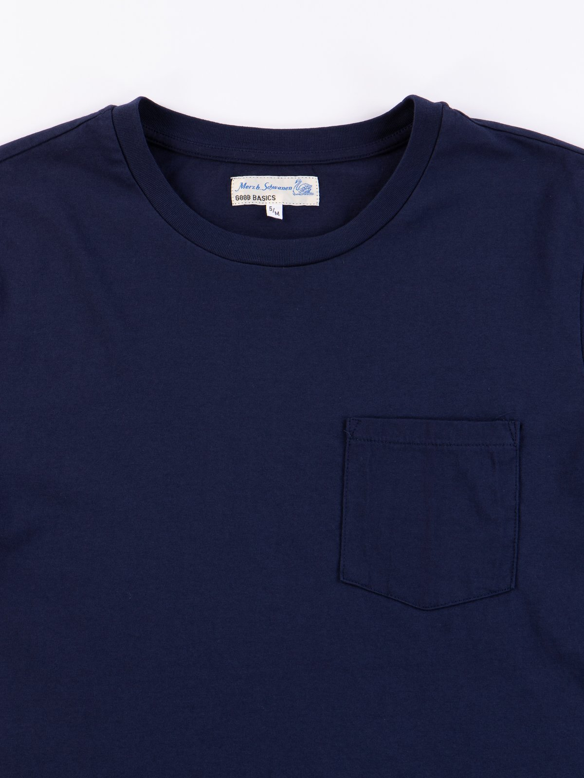 Deep Blue Good Basics CTP01 Pocket Crew Neck Tee - Image 2