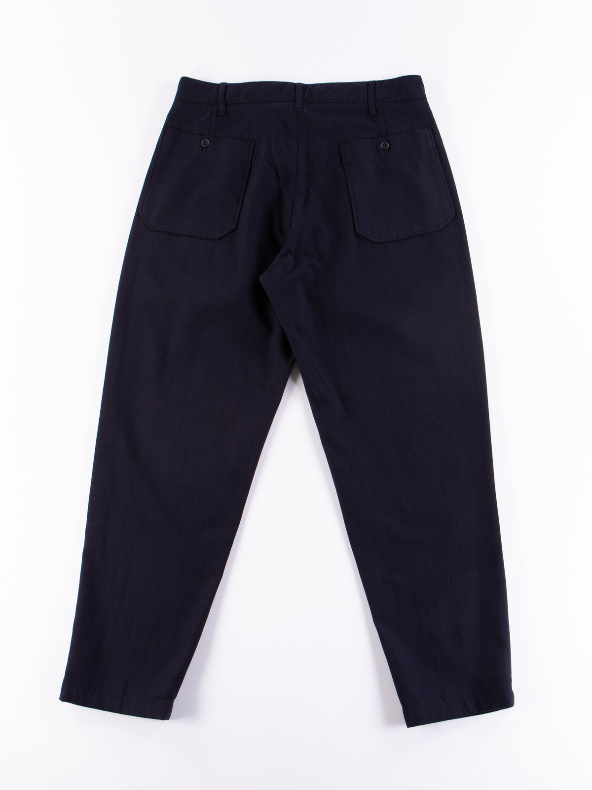 Dark Navy Wool Uniform Serge Carlyle Pant - Image 6