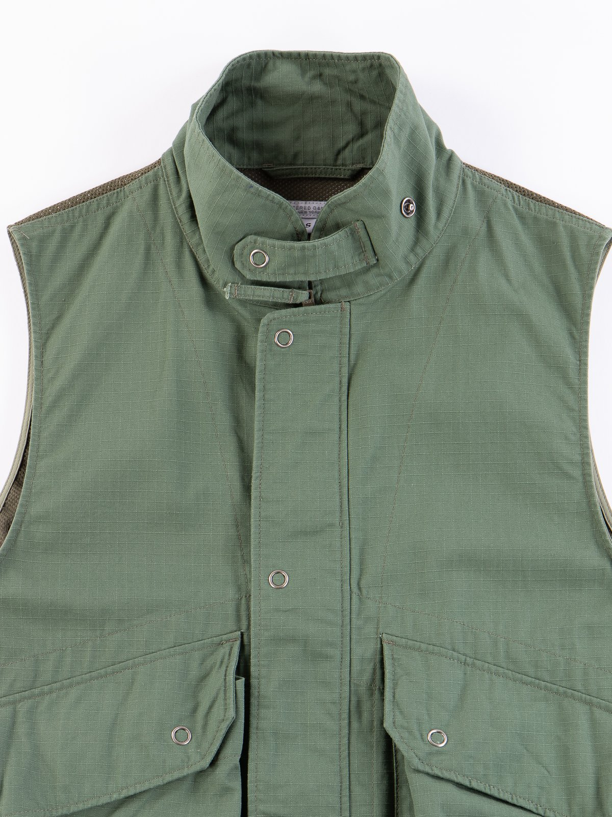 Olive Cotton Ripstop Field Vest - Image 3