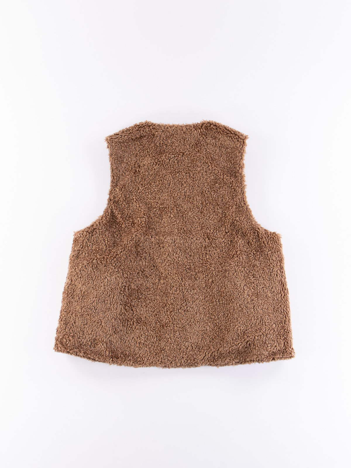 Dark Olive Coated Twill Over Vest - Image 8