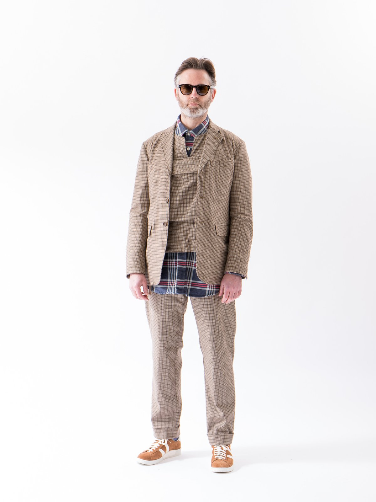 Brown Wool Poly Gunclub Check Andover Pant - Image 2