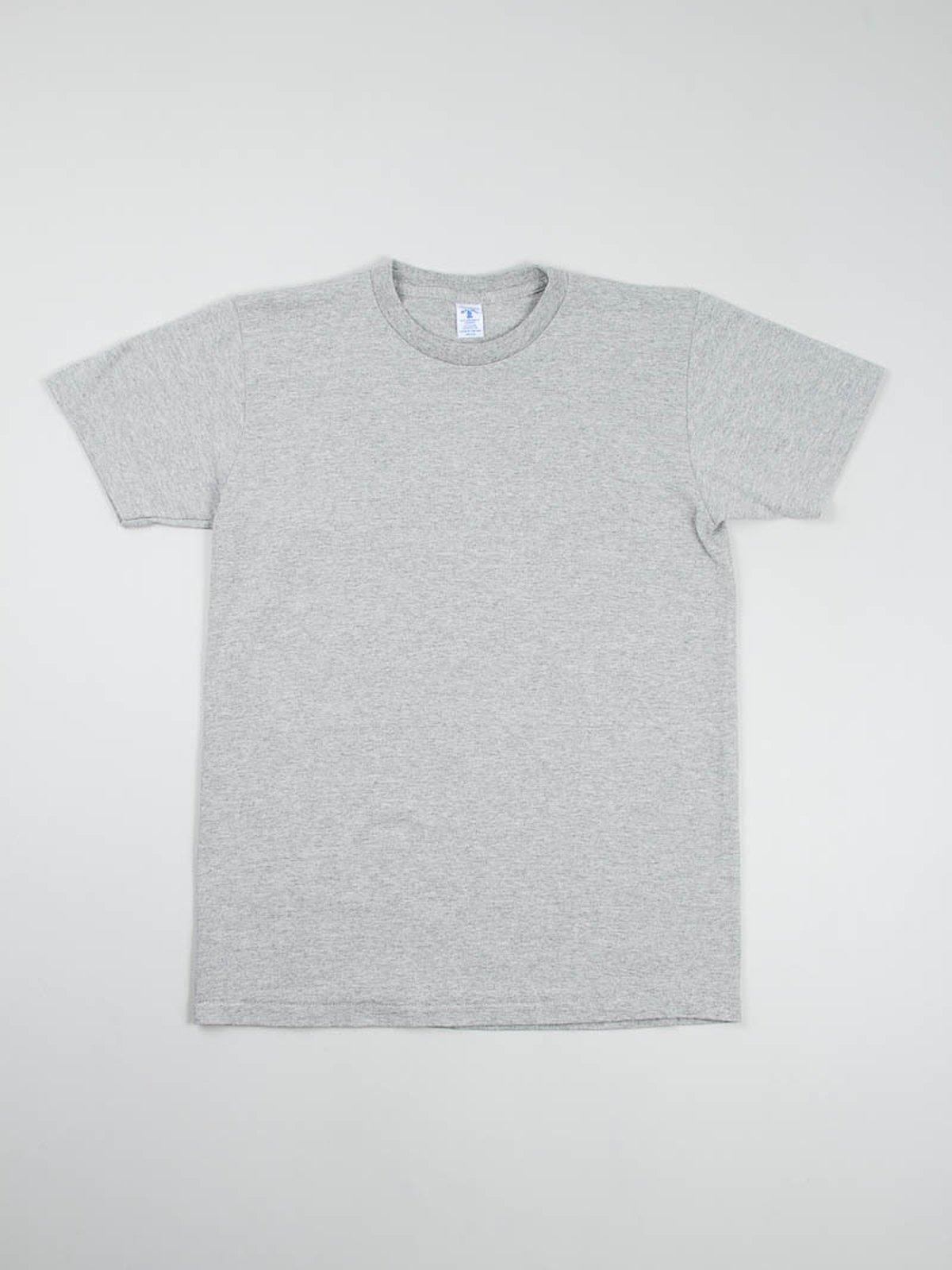 White/Heather Grey 2–Pac Plain Tees - Image 2