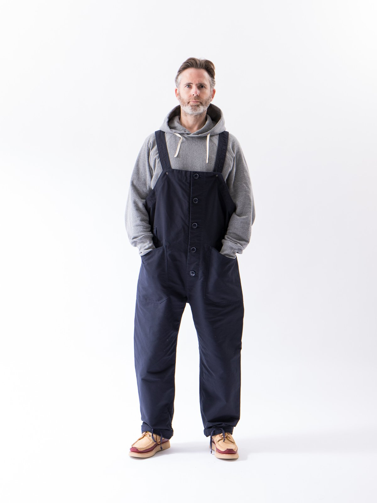 Navy Cotton Double Cloth Waders - Image 2