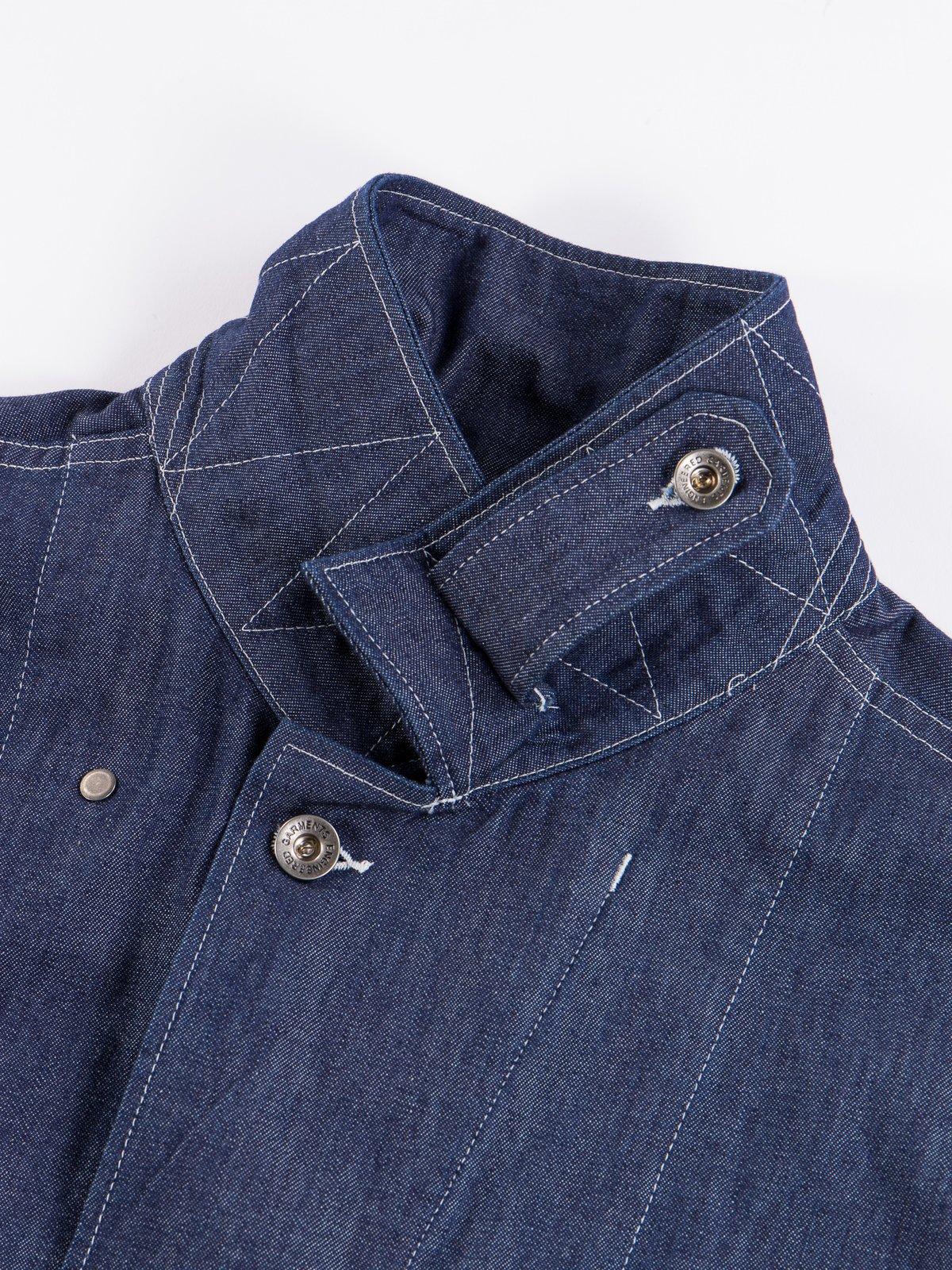 Indigo 8oz Cone Denim M43/2 Shirt Jacket - Image 6