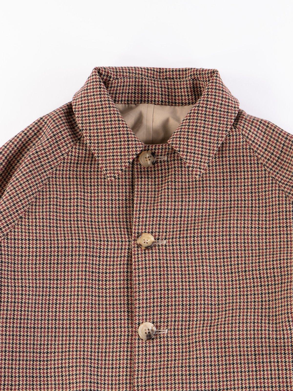 Light Khaki/Gunclub Reversible Balmacaan Coat - Image 8